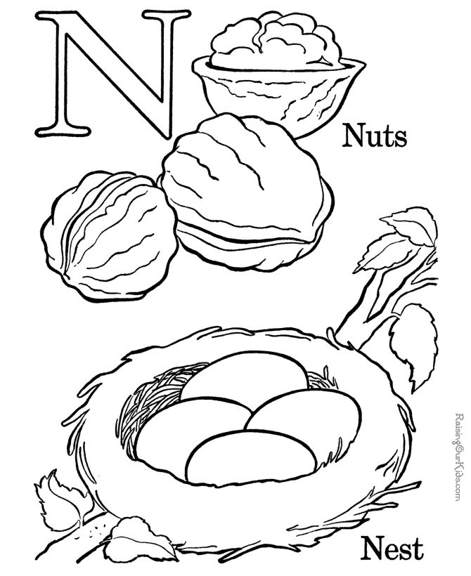 Geography Blog: Letter N Coloring Pages