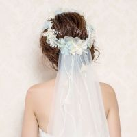 25+ best ideas about Flower crown veil on Pinterest ...