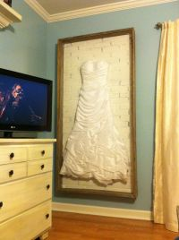 Wedding dress shadow box.