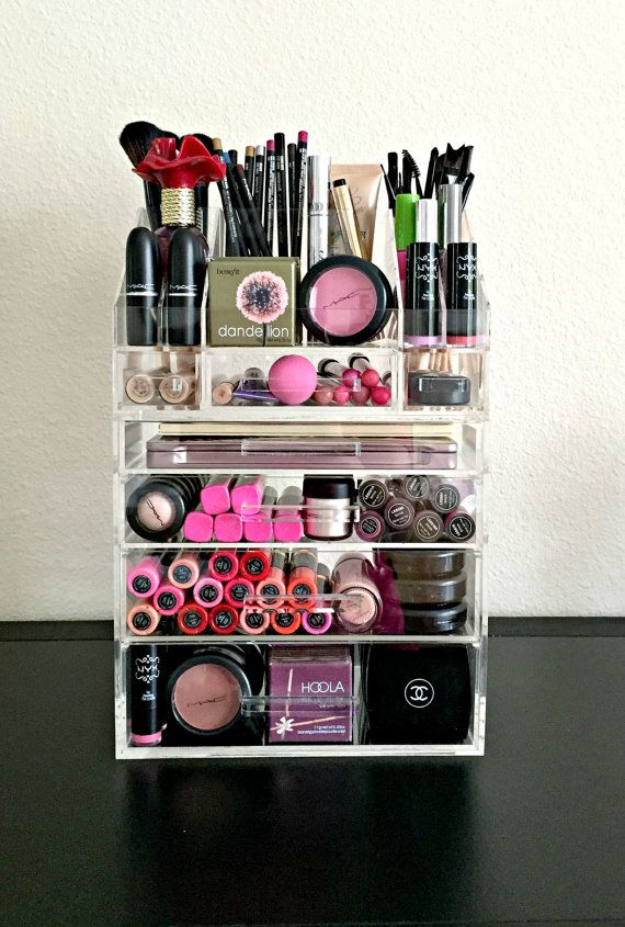 Acrylic makeup organizer organiser storage divider set  Acrylic makeup organizers
