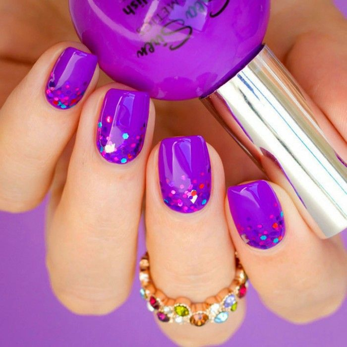 25+ best ideas about Purple gel nails on Pinterest