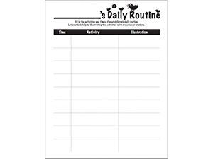 17 Best ideas about Daily Routine Chart on Pinterest