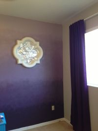 We did it, an ombr accent wall, and it wasn't a ...