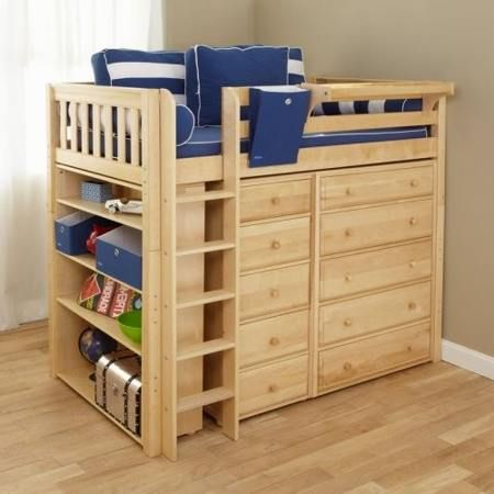 DIY loft bed with storage  kids bedroom ideas