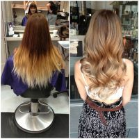 Before and after of a color correction. | Balayage by ...