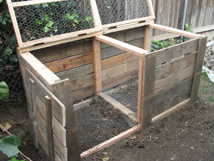 Double compost bin design  and notes about how to keep it mice free  Composter Design