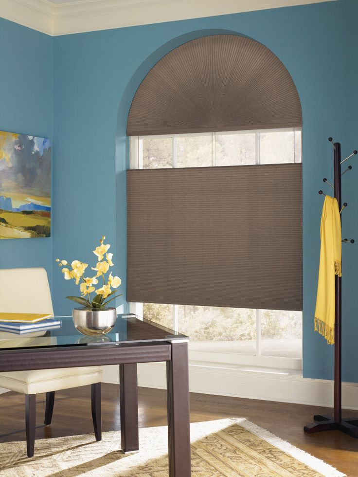 Cover Arched Windows With Top Down Bottom Up Cellular