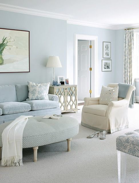 Love The Cool Color Light Blue Silver Cream Color Scheme For Bedroom For The Home