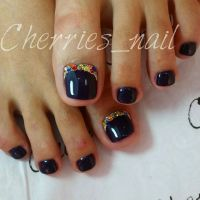 1000+ ideas about Black Toe Nails on Pinterest | Toe nail ...