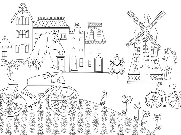 1000+ images about Les Chevaux du monde à colorier on