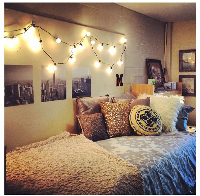 Dorm room ideas  Dorm Decor  Pinterest  Black and white