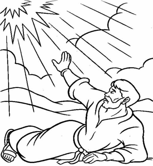 Conversion of Saint Paul Catholic Coloring Page