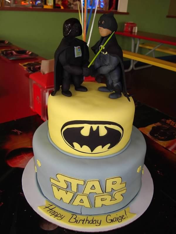 Batman and darth vader cake  Cakes  Pinterest  Discover