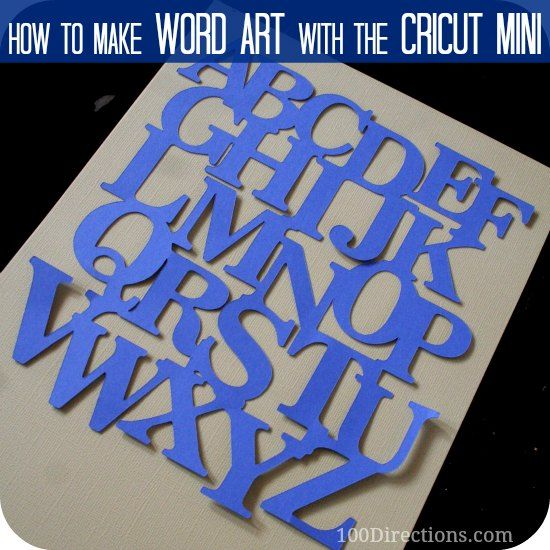 making word art with cricut