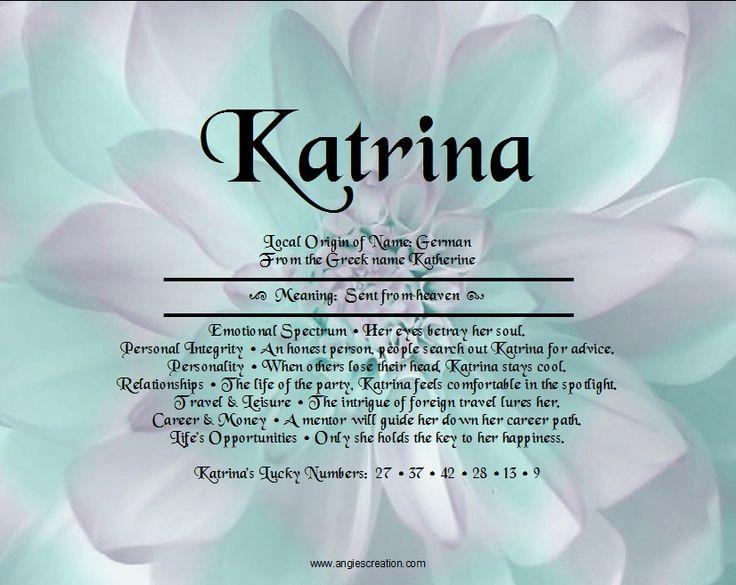 Katrina | Angies Creation | quotes & pics | Pinterest
