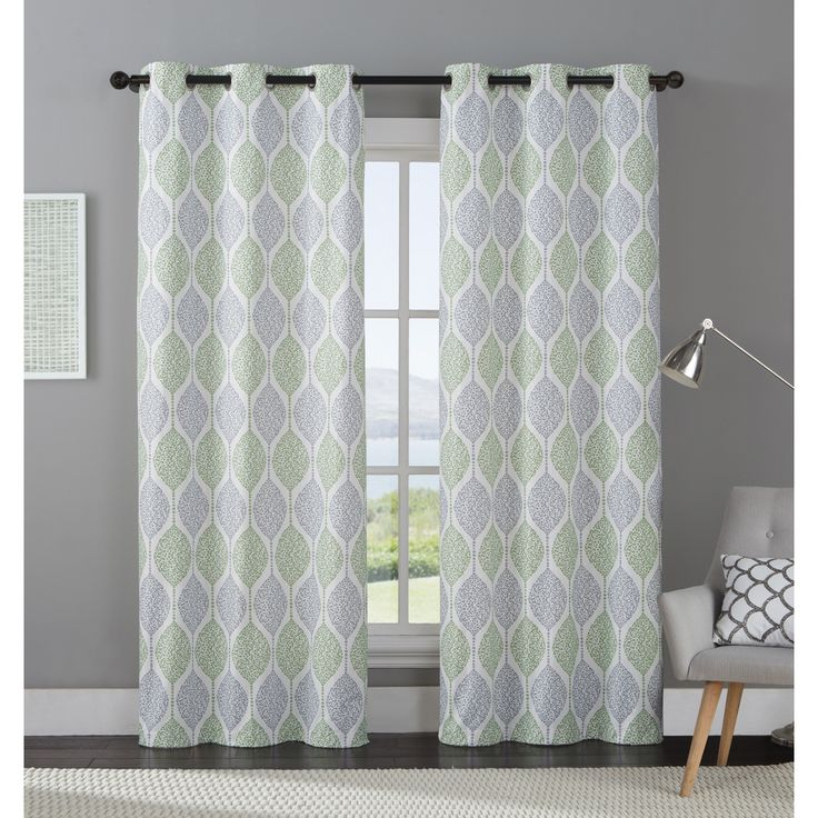 EXCLUSIVE VCNY Organic Leaf Blackout Curtain Panel Pair Blackout