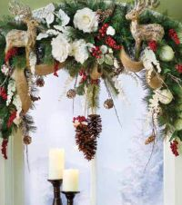 40 best images about Christmas swags and arches on ...