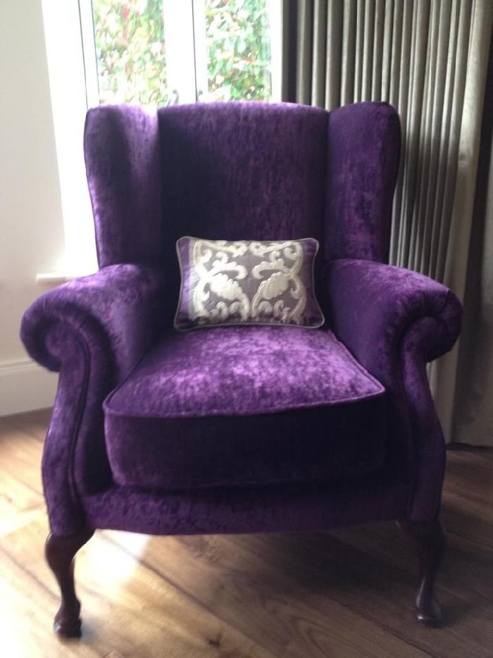 black wingback chair covers real leather tub brown 25+ best ideas about purple living rooms on pinterest | room paint, grey ...