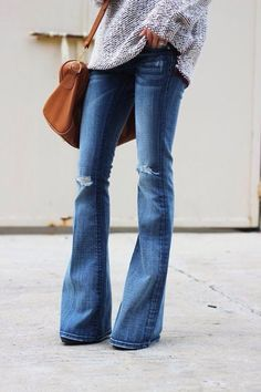 We are loving flare jeans for fall.: