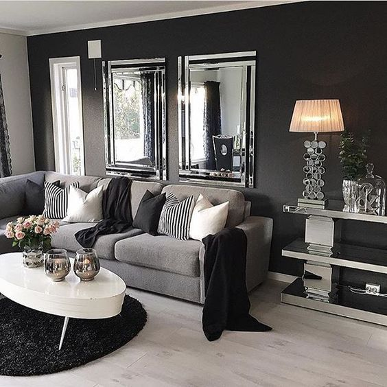 black white and gray living room Only best 25+ ideas about Dark Living Rooms on Pinterest | Brown family rooms, Warm living rooms