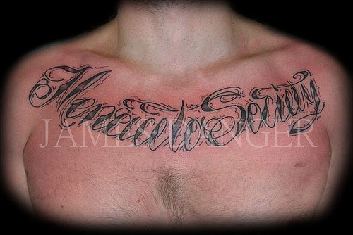 Tattoos Korean Chest Letters