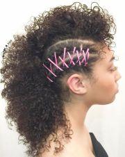 ideas curly mohawk