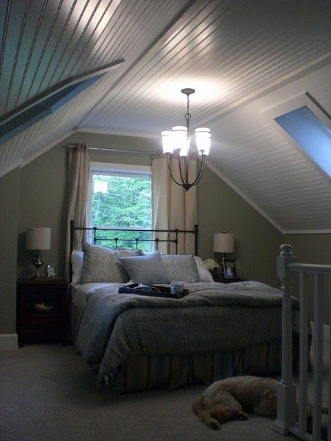 attic bedroom – how to the paint walls…in case we are ever cozy bungalow owners again someday!