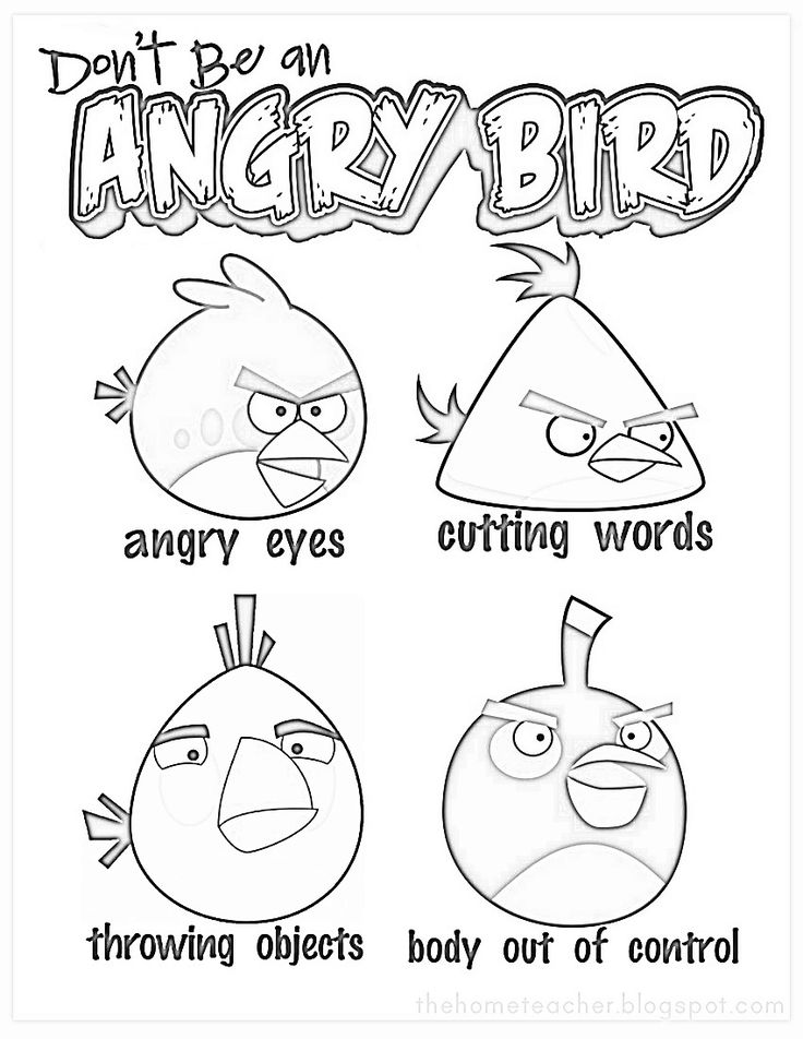 Don't be an Angry Bird anger management (for kids
