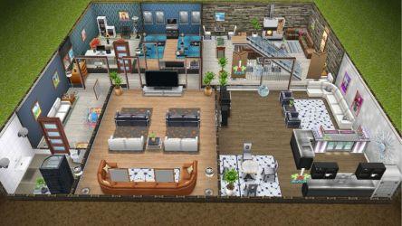 sims basement freeplay planos modern casas justice rear visitar