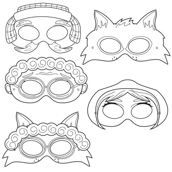 Little Red Riding Hood Printable Coloring Masks, little