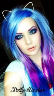 blue pink and purple hair