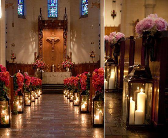 05 kerzen hochzeitsdeko dekoideen kirchlich Altar heiraten in der kirche blume Hochzeit Deko
