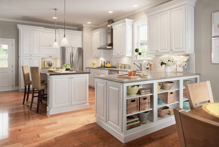 design new kitchen layout pendant lighting cabinetry from the newport collection by american woodmark ...