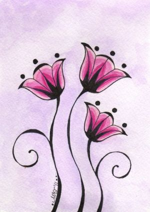 flower flowers simple drawing easy drawings sketches floral doodle dessin melody pretty patterns decorative blumen getdrawings zeichnen 5x7 dibujos flores