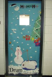 61 best images about christmas door decorations on