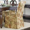 Dining chair slipcover bring the rose garden into your dining room