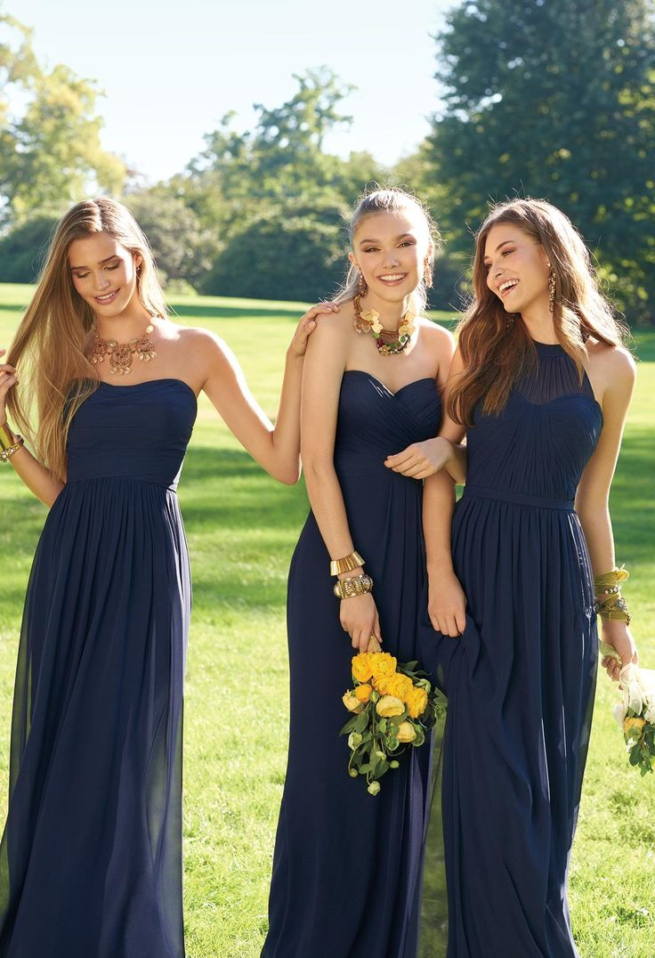 25 best ideas about Mismatched navy bridesmaids on