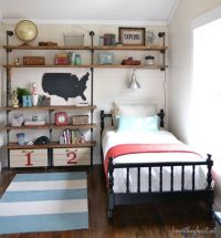 Industrial Shelves {for a boys room