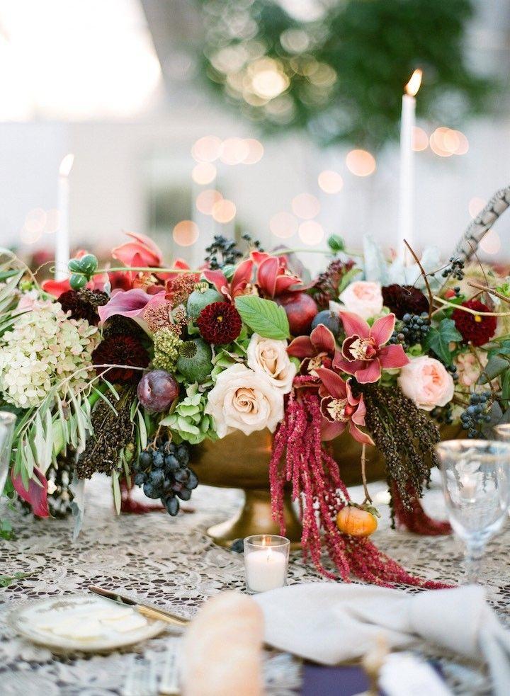 Boho Chic Style New York Wedding Wedding Centerpieces