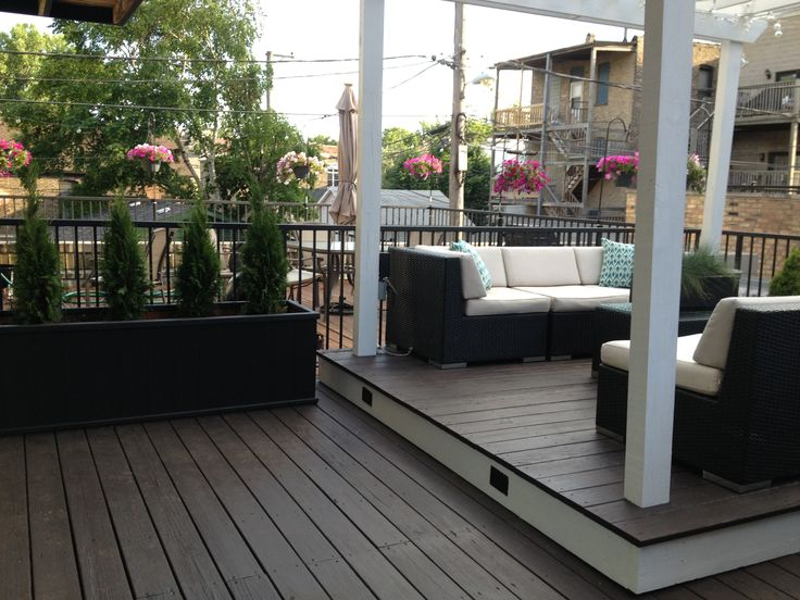 White Pergola And Solid Stain On Floors Living Outdoors