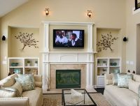 Electric Fireplace Mantels With Tv Above Latest trends ...