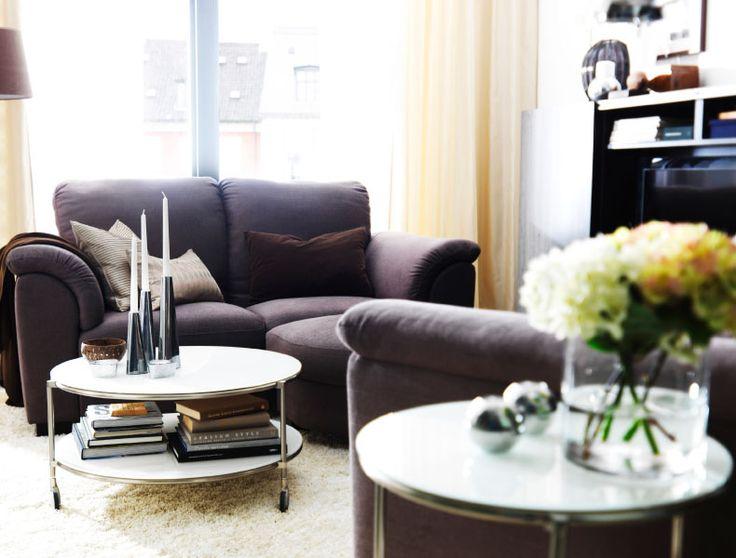 IKEA sterreich Inspiration Wohnzimmer TIDAFORS 3erSofa mit Bezug Tullinge in Graubraun