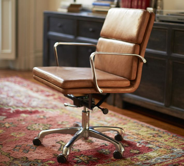 antique leather swivel desk chair solid wood high tufted office vintage - google search   chairs pinterest ...