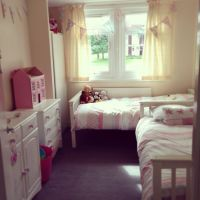 This is our twin girls toddler bedroom after changing a ...