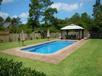 Decorative Concrete, Pool Deck has colored border and