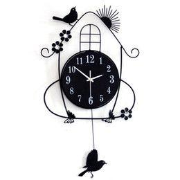 Fashion Bird Digital Wall Clock Modern Design Decorative Diy Kids Clocks Gift Bedroom
