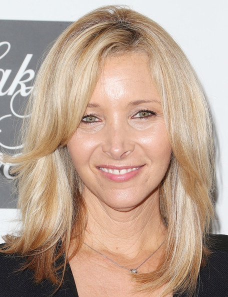 Lisa Kudrow Medium Layered Cut Layer Blondes And Blonde