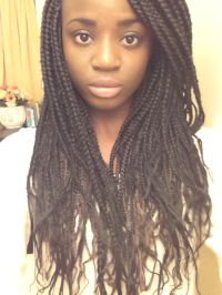 box braids with loose ends   Hair   Pinterest   We ...