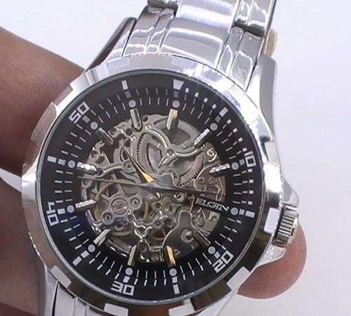 ELGIN Mens Automatic Skeleton Watch ELGIN Mechanical