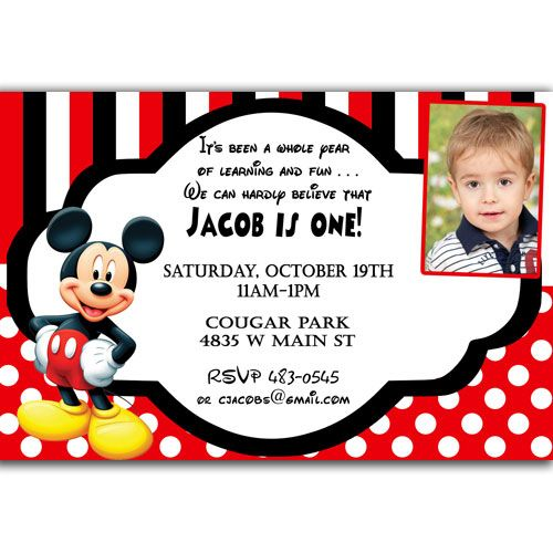 pictures on 1st birthday invitations